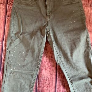 Mossimo Supply Co. Jeans - Olive High Rise Jegging Cropped Jeans